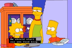 Simpsons' Food Blog